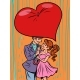 Couple in Love Under an Umbrella Heart Pop Culture - GraphicRiver Item for Sale