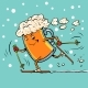 Beer Mug Runs on Skis - GraphicRiver Item for Sale