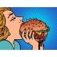 Pop Art Burger Lunch - GraphicRiver Item for Sale