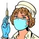 Nurse with a Syringe and a Vaccine - GraphicRiver Item for Sale
