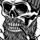 Bearded Lumberjack Skull With Crossed Axes Vector Illustration - GraphicRiver Item for Sale