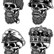 Bearded Skull Characters Collection Vector Illustration - GraphicRiver Item for Sale