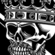 Bearded Skull King With Crossed Swords Vector Illustration - GraphicRiver Item for Sale