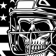 American Football Skull With Helmet - GraphicRiver Item for Sale