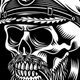 Bearded Sea Captain Skull With Smoking Pipe Vector Illustration - GraphicRiver Item for Sale