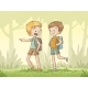Boys Walking In The Forest - GraphicRiver Item for Sale