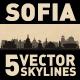 Sofia Bulgaria city Skyline set - GraphicRiver Item for Sale