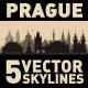 Prague Czech city Skyline set - GraphicRiver Item for Sale