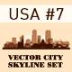 Skyline City Set. 10 Cities of USA #7 - GraphicRiver Item for Sale