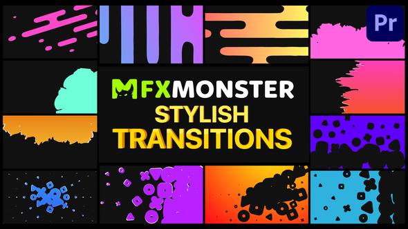 Stylish Transitions   Premiere Pro MOGRT