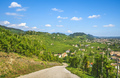 Prosecco Hills landscape, country road and vineyards. Unesco Site. Veneto, Italy - PhotoDune Item for Sale