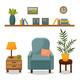 Living Room Interior - GraphicRiver Item for Sale