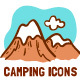 Colorful Camping and Outdoor activities - GraphicRiver Item for Sale