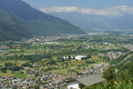 Panoramic view of Valtellina from Mello at summer - PhotoDune Item for Sale