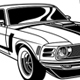 Vintage Muscle Car Collection Vector Illustration - GraphicRiver Item for Sale
