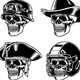 Skull Characters Collection Vector Illustration - GraphicRiver Item for Sale