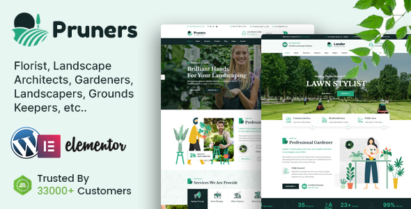 Pruners - Garden Landscaper WordPress Theme