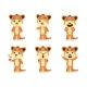 Set Cartoon Tiger Cubs - GraphicRiver Item for Sale