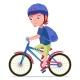 Boy Riding a Bike - GraphicRiver Item for Sale