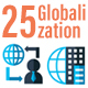 25 Business Globalization Flat Icons - GraphicRiver Item for Sale