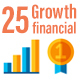 25 Growth Financial Icons - GraphicRiver Item for Sale