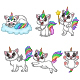 Set of Six Cat Unicorn Animals Bundles - GraphicRiver Item for Sale