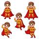 Set of Five Cute Cartoon Superhero Boy | Superboy Clipart - GraphicRiver Item for Sale