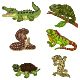 Set of Six Amphibian and Reptile Animals - GraphicRiver Item for Sale