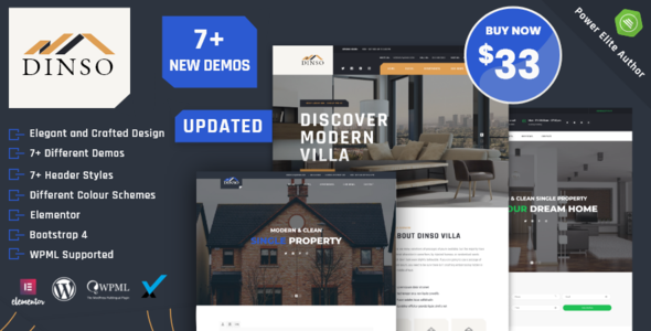 Dinso - Single Property & Apartment WordPress Theme