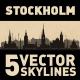 Stockholm Sweden city Skyline set - GraphicRiver Item for Sale