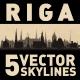 Riga Latvia City Skyline Set - GraphicRiver Item for Sale