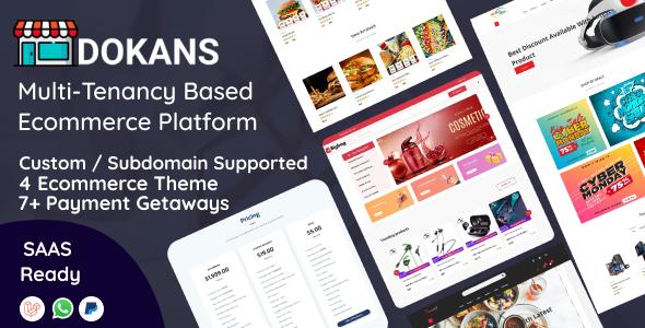 DOKANS - Multitenancy Based Ecommerce Platform (SAAS)