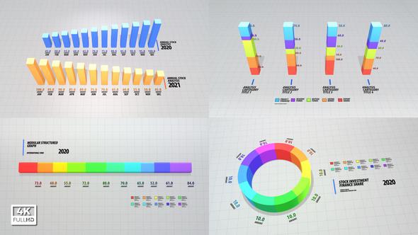 Infographics 3D Clean Graph