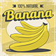 Banana Vintage Retro Signage Poster Vector Set - GraphicRiver Item for Sale