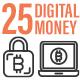 25 Digital Money Outline Icon Set - GraphicRiver Item for Sale
