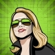 Comic Illustration in Classic Glasses on - GraphicRiver Item for Sale
