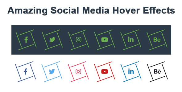 Amazing Social Media Hover Effects