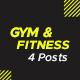 Gym & Fitness Social Media Posts - GraphicRiver Item for Sale
