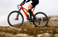 close up male cyclist on mountainbike - PhotoDune Item for Sale