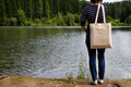 Placeit - Woman standing with tote bag, mockup - PhotoDune Item for Sale