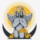 Cupid Angel Praying Logo - GraphicRiver Item for Sale