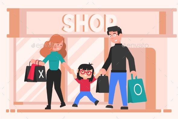 Family Shopping Leisure Motherhood Fatherhood