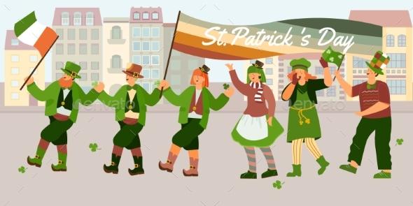 Patricks Day Parade Composition