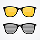 Realistic Detailed 3d Sunglass Set. Vector - GraphicRiver Item for Sale
