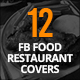 12 Facebook Food Restaurant Covers - GraphicRiver Item for Sale
