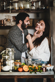 Sweet family couple having fun during cooking together - PhotoDune Item for Sale