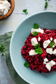 Risotto Made with Groats and Beetroot Served with Feta Cheese - PhotoDune Item for Sale