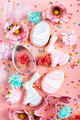Easter frosted cookies in shape of egg and rabbit - PhotoDune Item for Sale