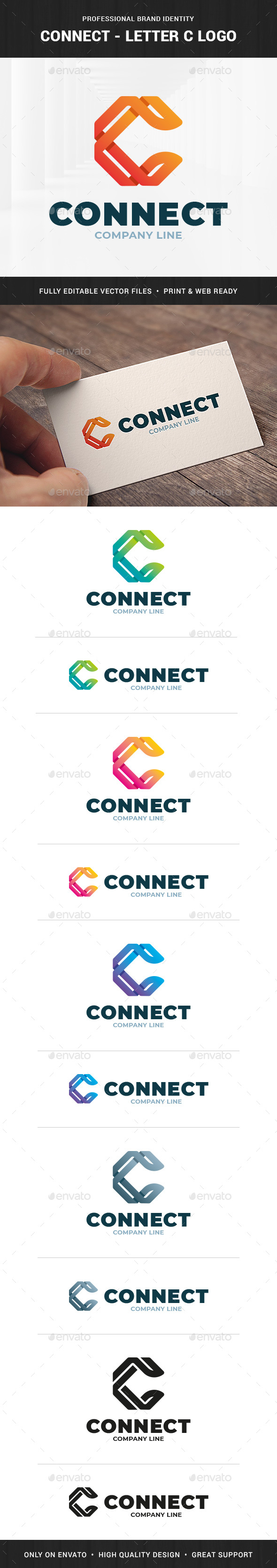 Connect - Letter C Logo Template