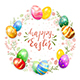 Easter Eggs with Floral Elements on White Background - GraphicRiver Item for Sale